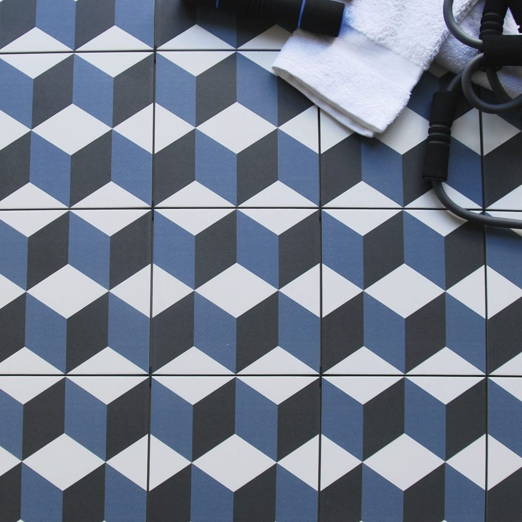 carrelage-geometrique-bleu-vasarely