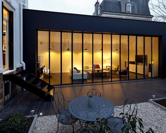 Extension maison à toit plat