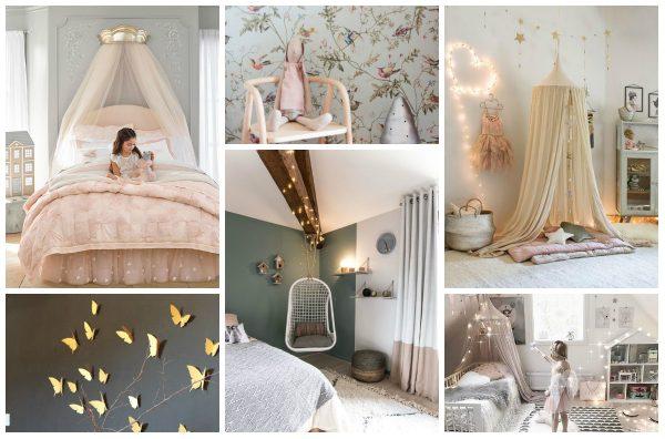 chambre-princesse-decoration-lumieres-papier-peint-papillons-ciel-de-lit