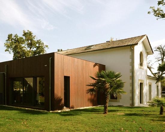 Extension bois maison ancienne