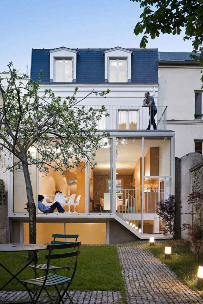 Extension avec toiture terrasse