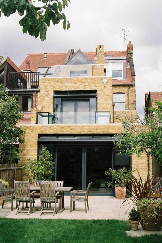 Extension de maison avec 2 terrasses