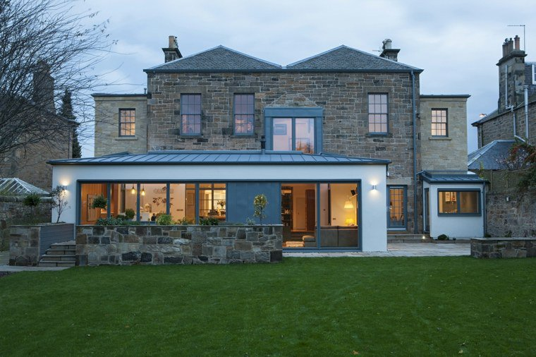 Extension maison avec toiture en zinc