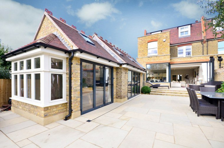 Idée d'extension maison autour de la terrasse