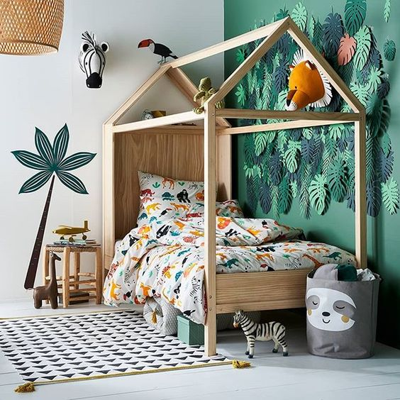 chambre-jungle-enfant-decoration-lit-idees-deco