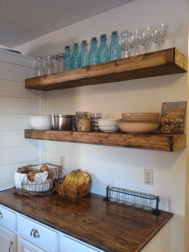 étagères flottantes pour cuisine 8